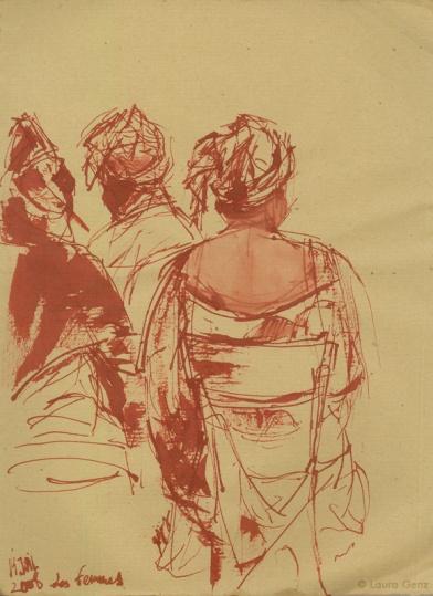 14 Juil. 2008   Les Femmes. 74e jour  d'occupation par les Sans Papiers. © Laura Genz