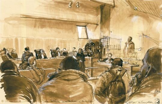 11 Janv. 2009   Le Maintien en Rétention Administrative. L'Audience. 255e jour  d'occupation par les Sans Papiers. © Laura Genz