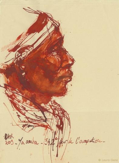 8 Avril 2009 | Yacouba. 342e jour  d'occupation par les Sans Papiers. © Laura Genz