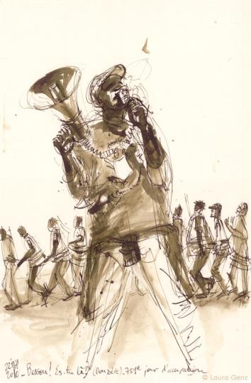 22 Mai 2010 | «Besson!… Es-tu là?» (Donzère). 751e jour d'occupation par les Sans Papiers. © Laura Genz
