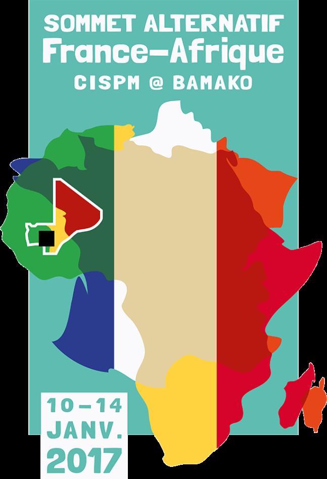 Sommet alternatif CISPM France-Afrique 2017 à Bamako (logo) © Laura Genz