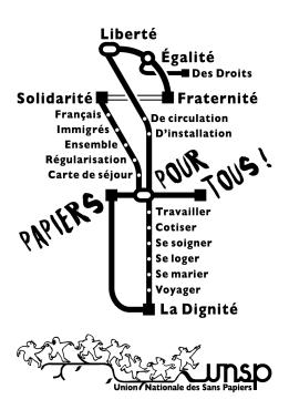 Dos tee-shirt La Marche du Grand Paris des Sans Papiers © Laura Genz