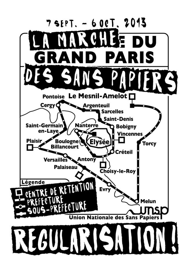 Face tee-shirt La Marche du Grand Paris des Sans Papiers © Laura Genz