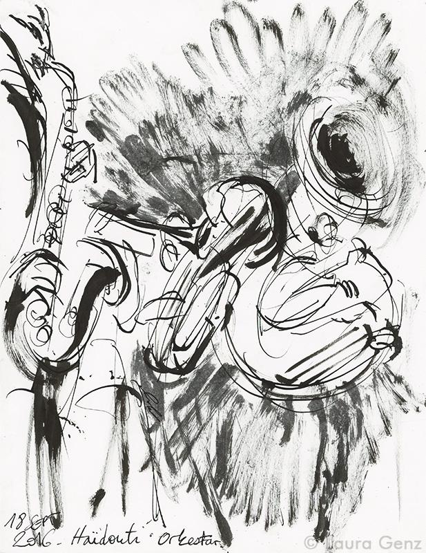 Haïdouti Orkestar. Complètement BAAM. Paris, 18 septembre 2016 © Laura Genz