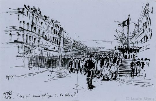 Mais qui... Mais qui nous protège de la Police? Paris, 19 mars 2017 © Laura Genz