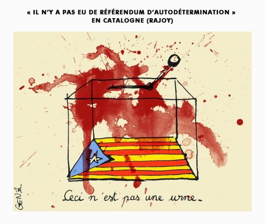 Octobre 2017 | «Il n'y a pas eu de référendum d'autodétermination» en Catalogne (Rajoy) © Laura Genz 01/10/17