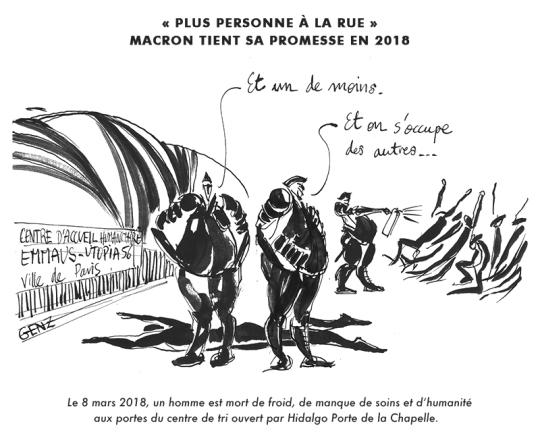 Mars 2018 | «Plus personne à la rue»: Macron tient sa promesse en 2018 © Laura Genz 10/03/18
